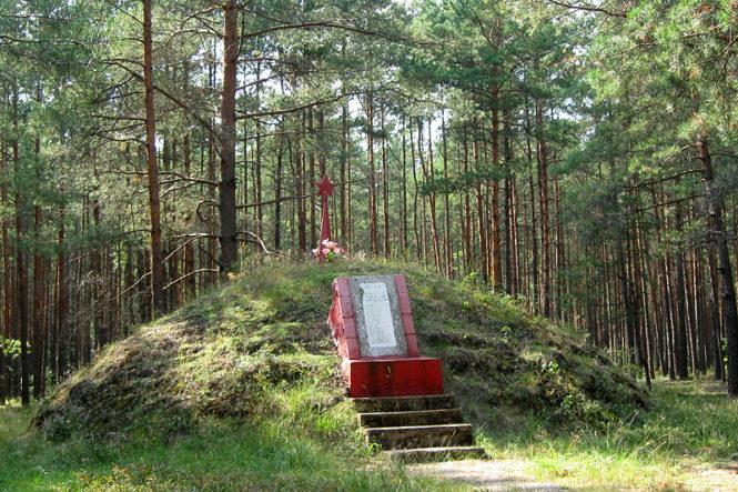 Место гибели мирных жителей